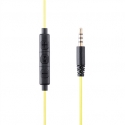 Acme Right Now HE17B 3.5 mm, Black/Yellow, Built-in microphone