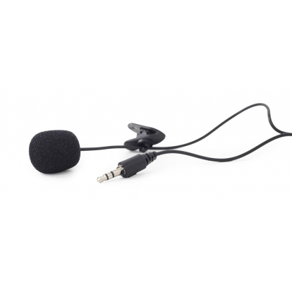 Gembird Clip-on 3.5 mm microphone, black