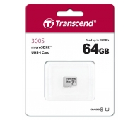 Atminties kortelė Transcend microSDXC USD300S 64GB CL10 UHS-I Up to 95MB/S