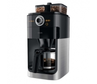 Philips Grind & Brew Coffee maker HD7769/00 With glass jug Integrated coffee grinder Black & metal With timer