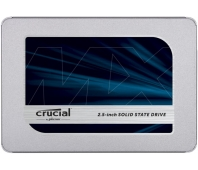 SSD|CRUCIAL|MX500|500GB|SATA 3.0|TLC|Write speed 510 MBytes/sec|Read speed 560 MBytes/sec|2,5"