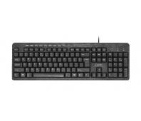 Gembird compact multimedia keyboard KB-UM-106, USB , US layout, black