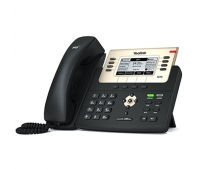 "Yealink SIP-T27G IP Phone, 3.66"" 240x120-pixel graphical LCD with backlight, 6 VoIP accounts"