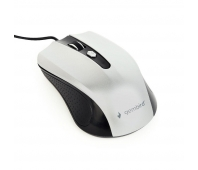 Gembird optical mouse MUS-4B-01-BS, 1200 DPI, USB, Black/silver