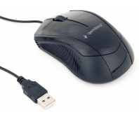 Gembird optical mouse MUS-3B-02, 1000 DPI, USB, Black, 1.35m cable length