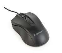 Gembird optical mouse MUS-3B-01, 1000 DPI, USB, Black, 1.35m cable length