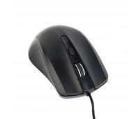 Gembird optical mouse MUS-4B-01, 1200 DPI, USB, Black, 1.35m cable length