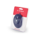 Gembird optical mouse MUS-6B-01, 1600 DPI, USB, Black, 1.35m cable length