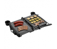 ECG ECGKG100 Contact grill, 2000W, 3 working positions - for scalloping, grilling and BBQ, Inox color
