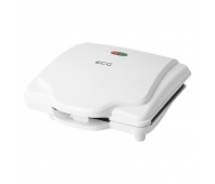 ECG ECGS1370 Waffle maker, 700W, Suitable for preparing 2 square waffles, White color