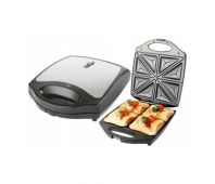 ECG ECGS199 Quattro Sandwich maker, 1100W, Non-stick plates, Black/Inox color